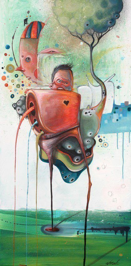 Twisted surreal fantasy art painting philip bosman