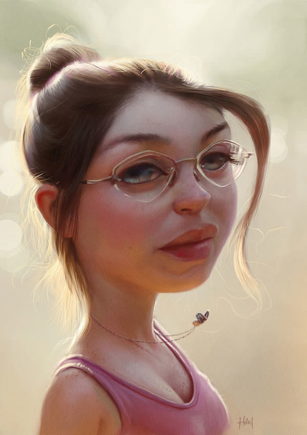 beautiful girl photoshop painting design inspiration art