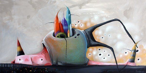 body of birds philip bosman painting unusual bizarre