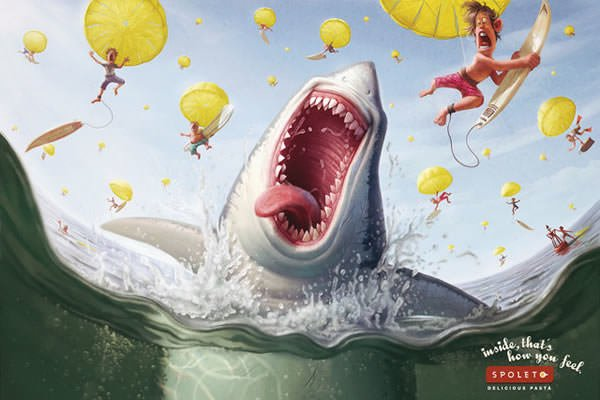 funny photoshop art inspiration design shark