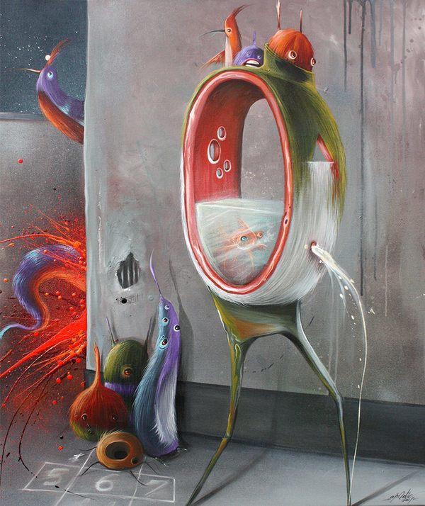 philip bosman alternate reality goldifsh odd painting design