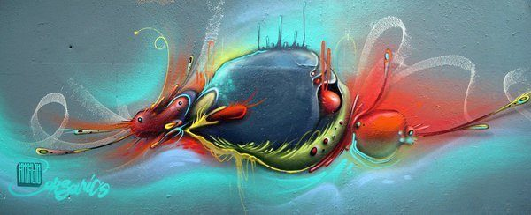 philip bosman graffiti street art painting organic design