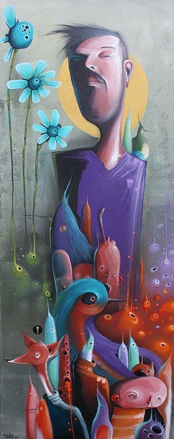 snooty flowers philip bosman painting color inspiration