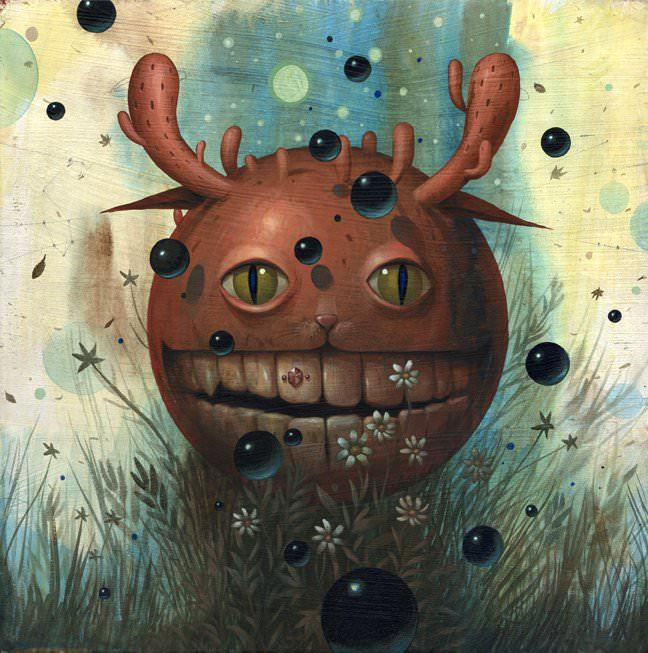 cat monster character design art dark humor macabre