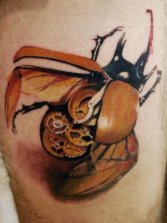 clockwork insect best steampunk tattoo design