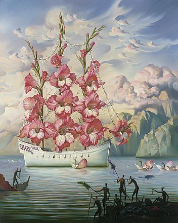 flower ship surrealism art painting famous