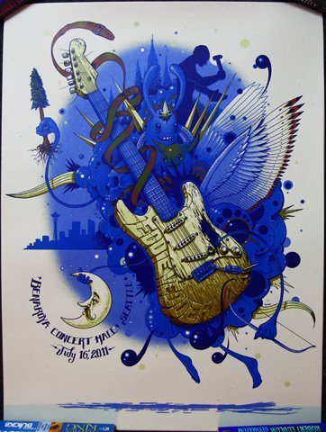 poster design art music guitar wings graffiti inspired