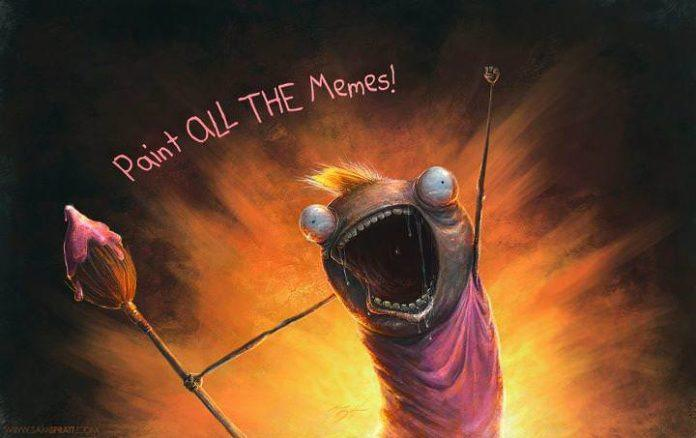 sam spratt paint all the memes online internet fan art painting