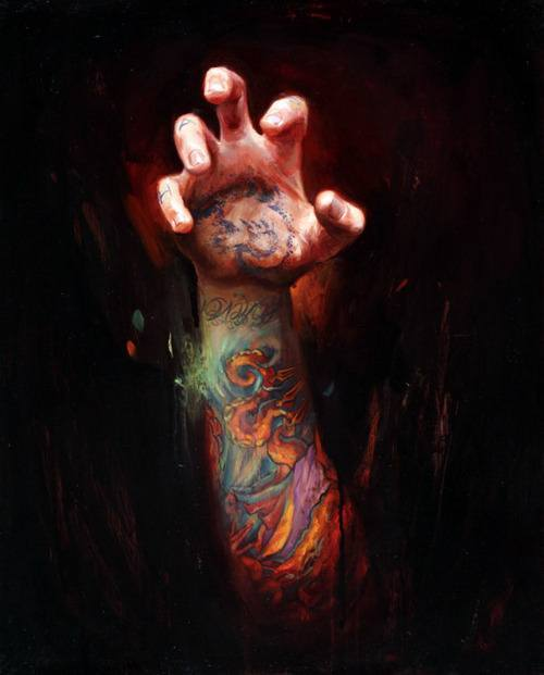 shawn barber hand claw tattoo body art painting