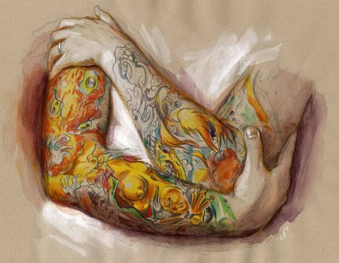 shawn barber painting tattoo body art beautiful design