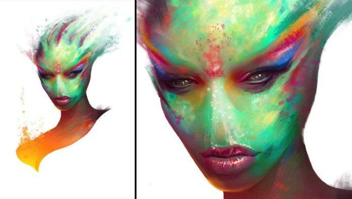 spratt-painting-female-alien-woman-portrait-design-otherworldly-beautiful