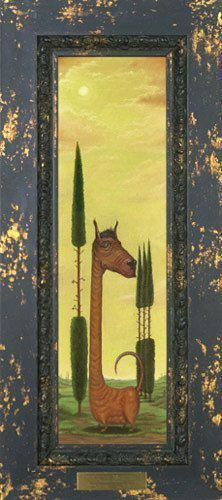 surrealism alien dog giraffe funny art character design painting