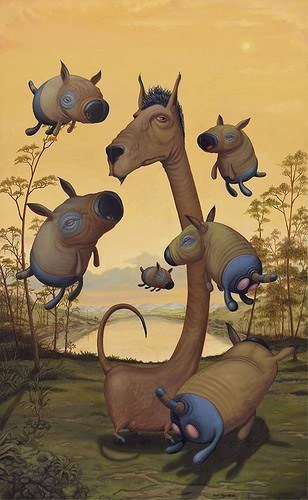 surrealism fantasy characters bizarre funny art painting