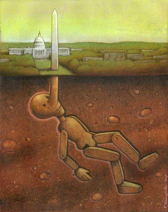 surrealism painting politics america pinnochio art