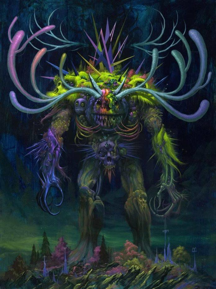 technicolor monster character design painting art