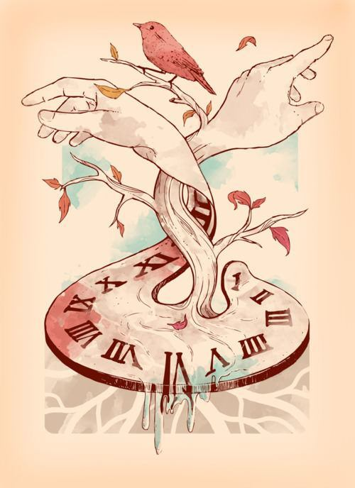 time-clock-hands-bird-illustration-tattoo-design-art