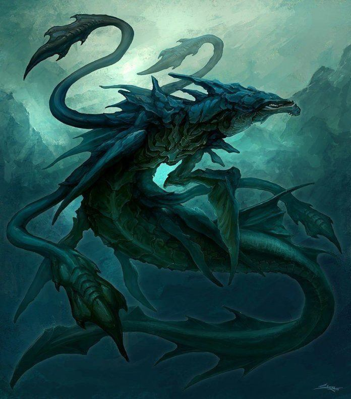 Leviathan character design creature art fantasy illustration