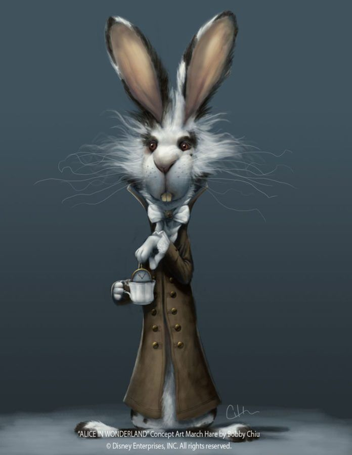bobby chiu pixar style photoshop illustration march hare alice in wonderland