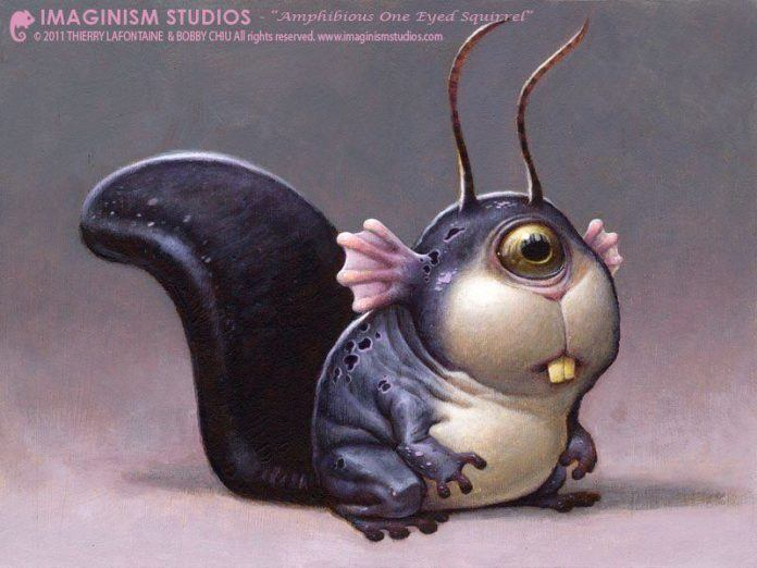 cute alien sea creature character design pixar style illustration