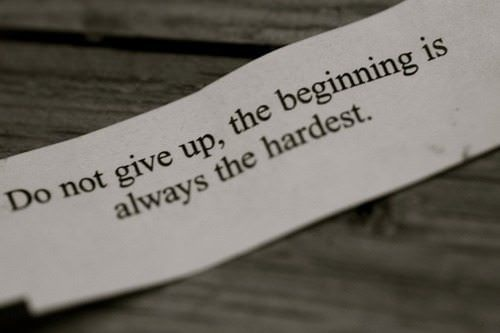 A short and sweet inspirational picture quote, do not give up