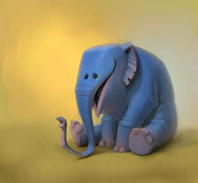 elefump elephant pixar style character design funny photoshop art