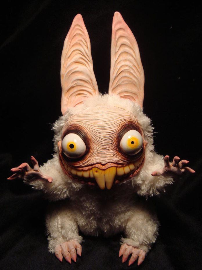 evil bunny rabbit monster doll creature character design puppet model