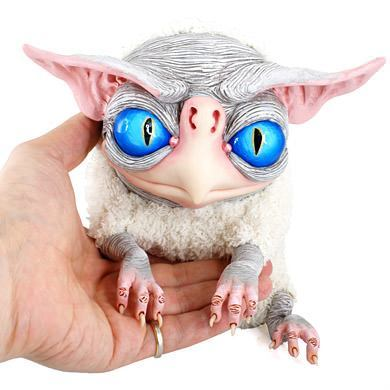 fantasy monster doll gryphon baby creature character design gremlin yoda