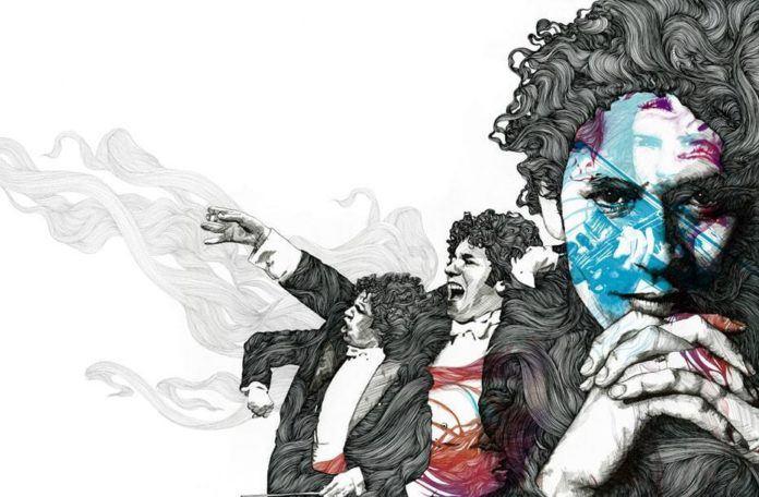 Graphic design portrait art by Gabriel Moreno