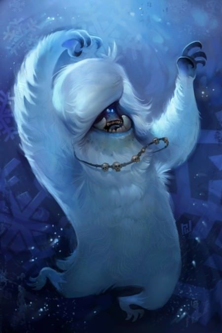 groovy afro monster yeti big foot dancing funny photoshop painting digital art