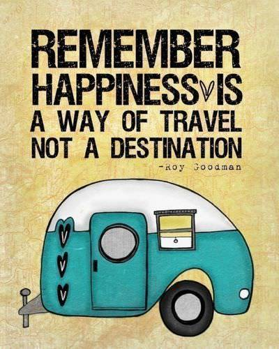 A cute picture quote with an inspirational phrase about happiness by Roy Goodman