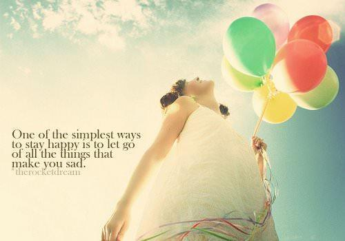 An inspirational picture quote that gives advice about being happy in life