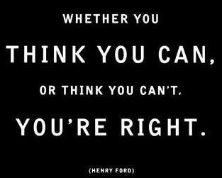 An inspirational picture quote with words from car manufacturer Henry Ford