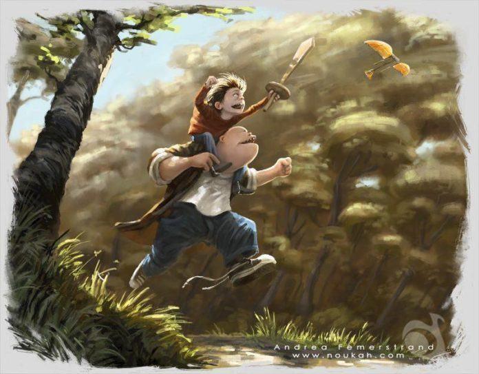 kids friends imagination cute funny photoshop illustrations art digital painting