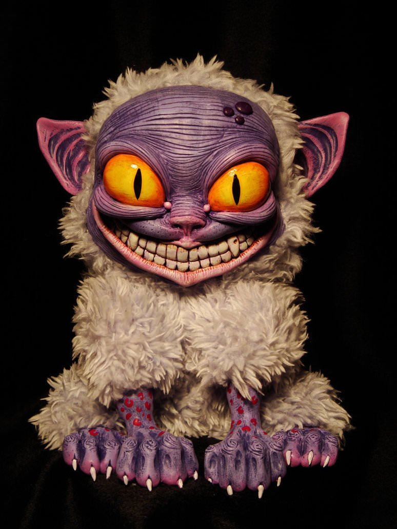 cute creepy dolls santani monster cat evil miau monsters creature fluffy creatures artisan deviantart cartoon doll cats meow character creatures