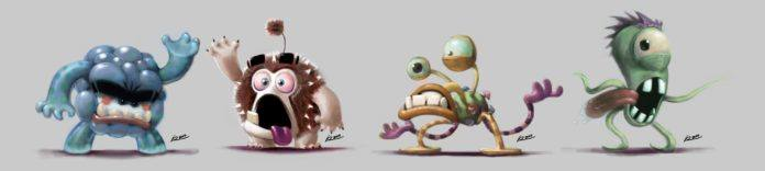 monster character creature designs photoshop art painting funny cute