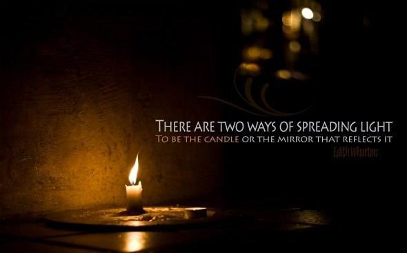 A beautiful inspirational picture quote about bringing light to life