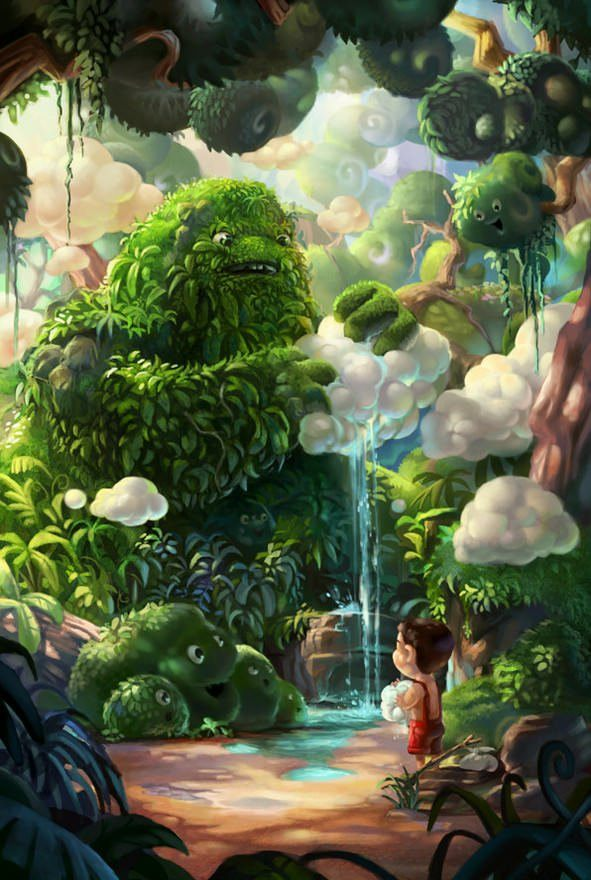 rainforest makes water clouds funny photoshop humor art