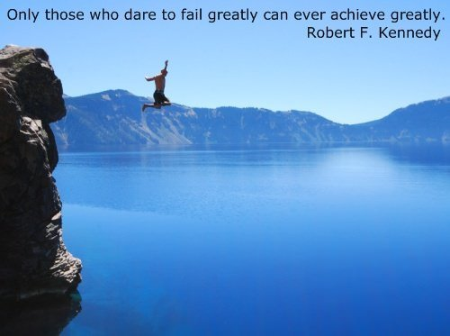 An inspirational picture quote with Robert F Kennedy about failure and success in life