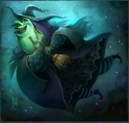ryan wood funny photoshop witch halloween broomstick digital art illustration painting