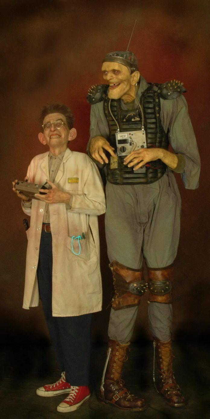 thomas kuebler frankenstein monster mad scientist crazy freak show life size sculpture