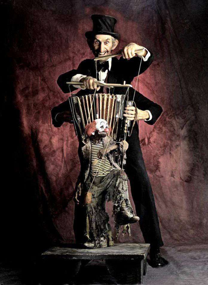 thomas kuebler freak show circus dancing monkey clown creepy bizarre odd strange top hat