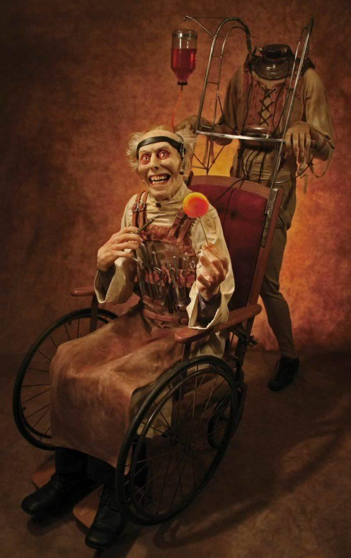 thomas kuebler freak show sculpture crazy doctor insane asylum creepy medicine