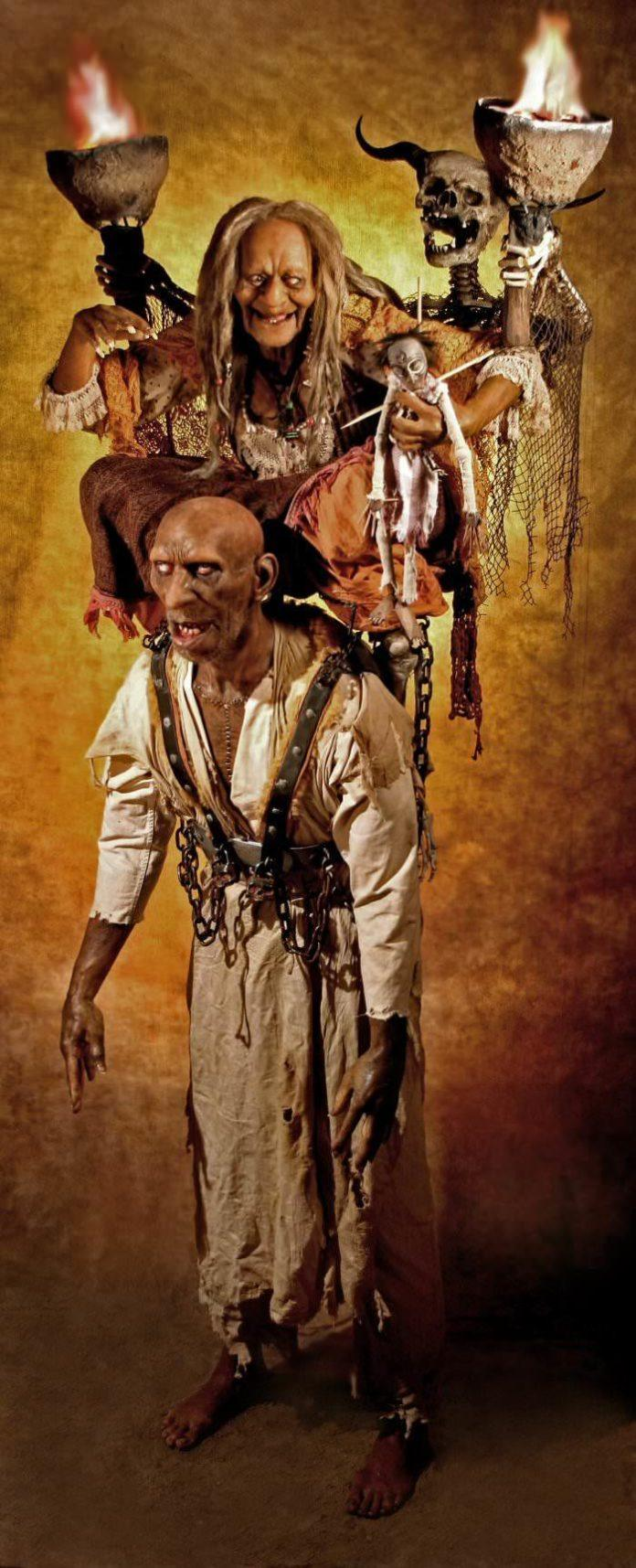 thomas kuebler life size sculpture voodoo hoodo grandma zombie creepy funny statue