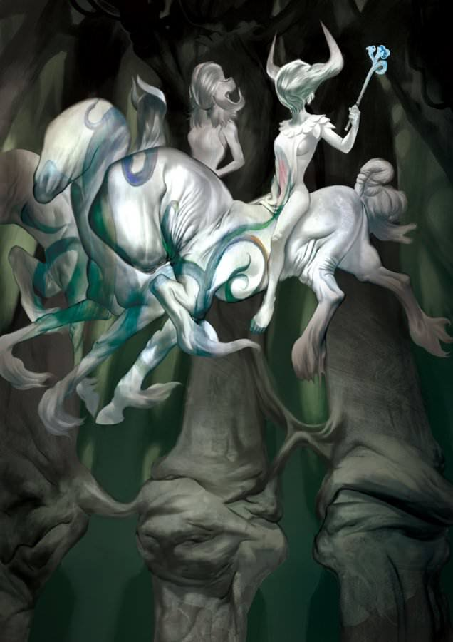 torron fairy warriors fantasy photoshop painting horses myths magic