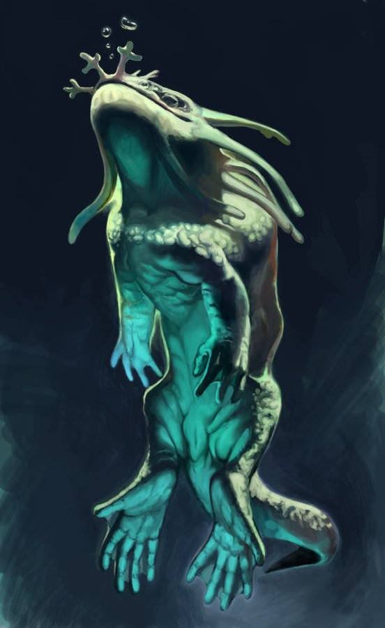 torron sea beast creature character design photoshop painting digital art