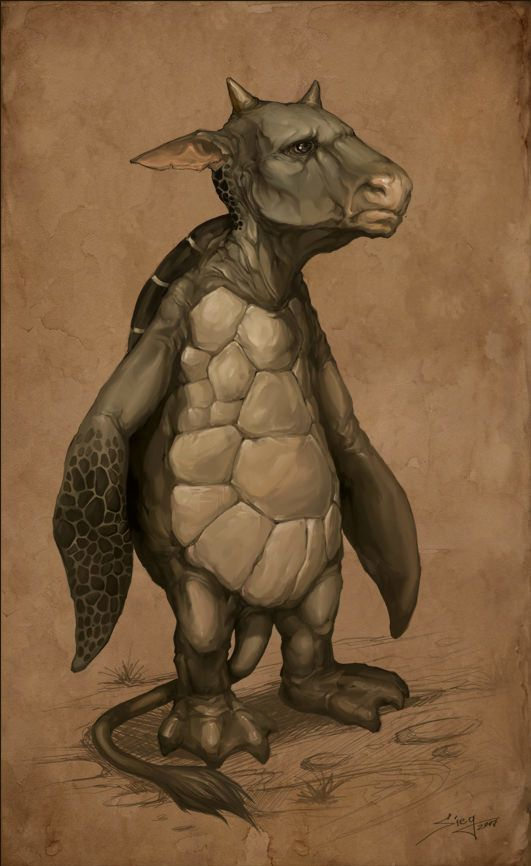 turtle cow tortoise animal hybrid funny illustration character design