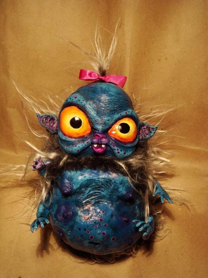 violet character creature craft artisan doll monster cute creepy insect hamster