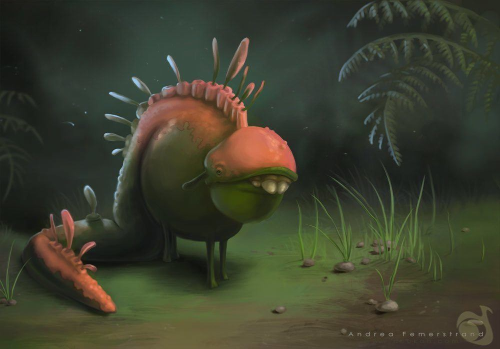 Character Design Digital Art : Weird little creature funny photoshop painting character