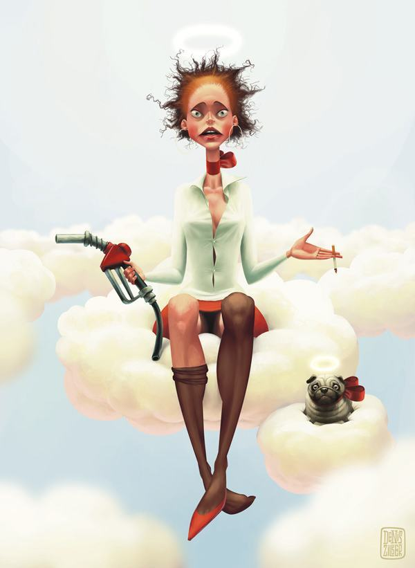 zilber heaven petrol gas cigarette what happened funny photoshop illustration painting