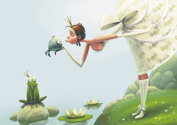 zilber princess and toad fairy tale fantasy funny photoshop painting art